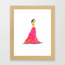 Playing With Neon Framed Art Print