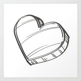 Heart Illustration Art Print