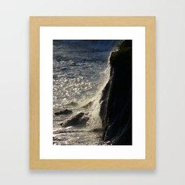 Golden water Framed Art Print