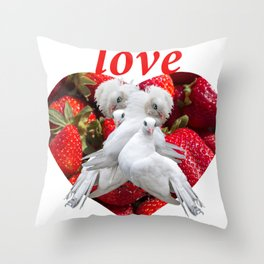 Love and Dove Throw Pillow