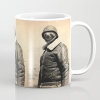 general Mugs featuring General Sloth by Bakus