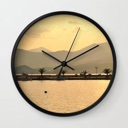 Evening Glow Wall Clock