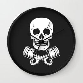 Skull n Pistons Classic Wall Clock