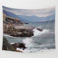 italy Wall Tapestries featuring Genoa, Italy by Kristina Bychkova