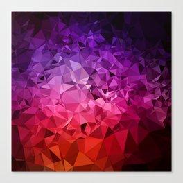 Ultra Violet Diamond Rainbow Canvas Print