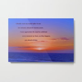 """Moonstone Beach Moment"" with poem: And Counting Metal Print"