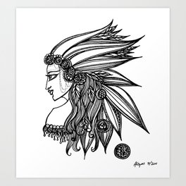 Feathered Art Print