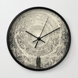 The Divine Comedy By Gustave Doré Wall Clock