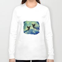 fairies Long Sleeve T-shirts featuring Moon Fairies by haroulita
