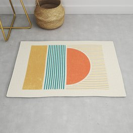 Sun Beach Stripes - Mid Century Modern Abstract Rug