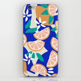 Mediterranean Summer / Lemons and Leaves iPhone Skin