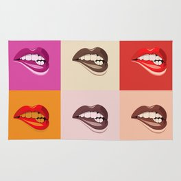 Pop Art Colourful Lips Rug