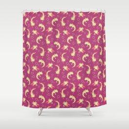 Relaxolotl - Rose Pink Shower Curtain