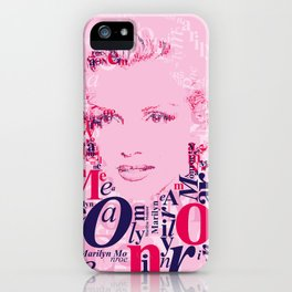 Typographic image Monroe iPhone Case