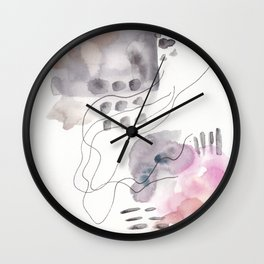 180805 Subtle Confidence 6| Colorful Abstract |Modern Watercolor Art Wall Clock