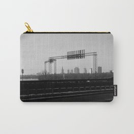 riverside cityscape, city skyline, driving in warsaw view Carry-All Pouch