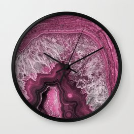 Purple and pink agate mineral gem stone- Beautiful backdrop Wall Clock