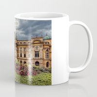 theatre Mugs featuring Slowacki Theatre in Cracow by jbjart