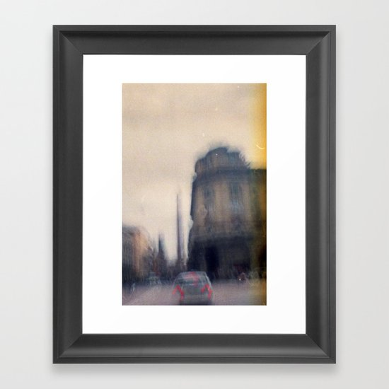 Don't think, just shoot. Framed Art Print