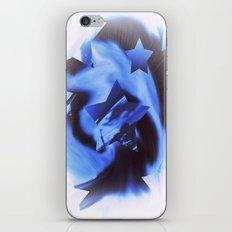 Starburts II cold blue iPhone Skin