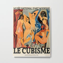 Picasso Le Cubisme Poster, HIGH QUALITY PRINT, Pablo Picasso, Les Demoiselles d'Avignon, Museum Of Modern Art, Home Decor Metal Print