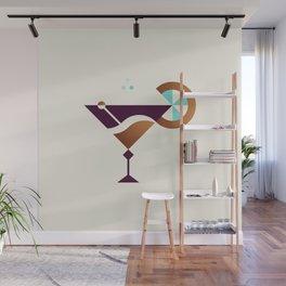 Cocktail // Geometric Minimalist Illustration Wall Mural