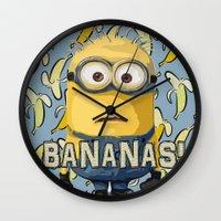 minion Wall Clocks featuring Minion by DisPrints