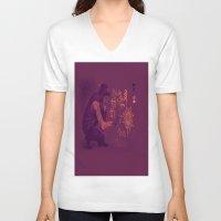 zayn V-neck T-shirts featuring Zayn by RockitRocket