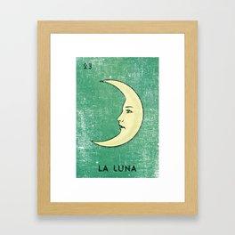 La Luna Mexican Loteria Bingo Card Framed Art Print