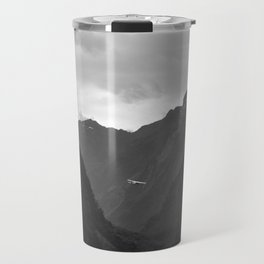 Flight entering Milford Sound New Zealand South Island Travel Mug