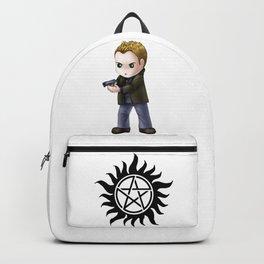 Chibi Dean Winchester (White BG) Backpack