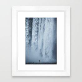 scale at skogafoss Framed Art Print