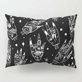 Floating Witchy Goth Hands Pillow Sham