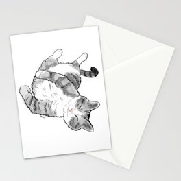 Petoux the Cat, White Stationery Cards