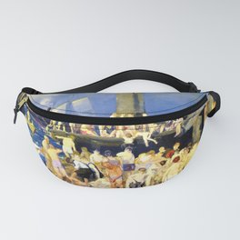 12,000pixel-500dpi - George Wesley Bellows - River Front No.1 - Digital Remastered Edition Fanny Pack