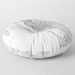 San Diego White Map Floor Pillow