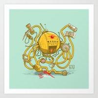 Wrecker the Robot Art Print