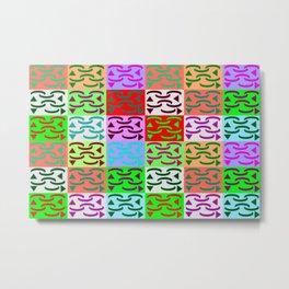 Patternless-squares-pattern Metal Print