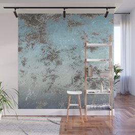 Blue gray abstract pattern Wall Mural