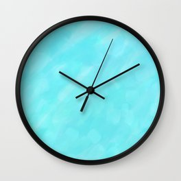 Soft Blue Crystal Abstract Wall Clock
