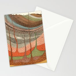 Geology Chart Stationery Cards
