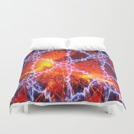 lava lightning activation Duvet Cover