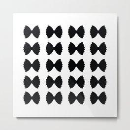 Pasta Series: Farfalle Pattern Metal Print