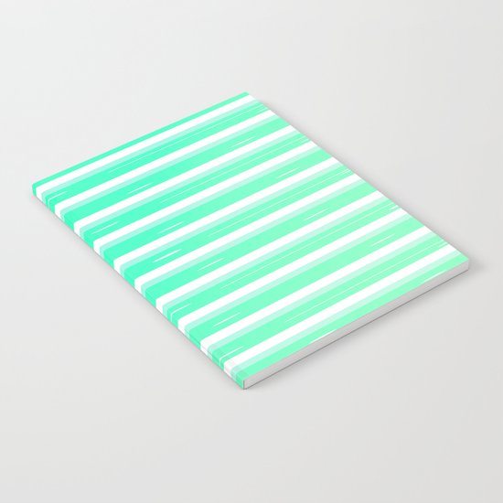 Mint stripes Notebook
