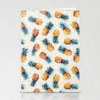 crystals Stationery Cards featuring Pineapples + Crystals  by micklyn