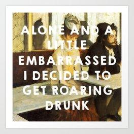 The Absinthe Drinker (1859), Édouard Manet // The Great Gatsby (2013), Baz Luhrmann Art Print