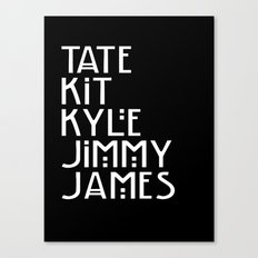 American Horror Names Canvas Print