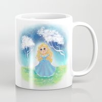 cinderella Mugs featuring Cinderella by Bearrrs