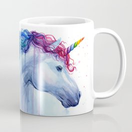Rainbow Unicorn Colorful Watercolor Animal Coffee Mug