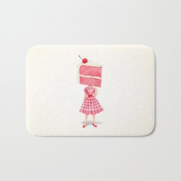 Cake Head Pin-Up - Cherry Bath Mat